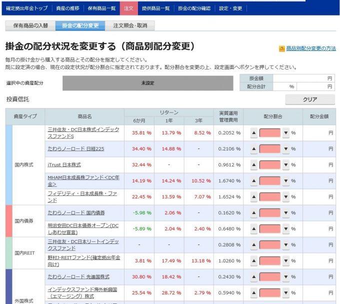 楽天証券 個人型確定拠出年金(iDeCo)